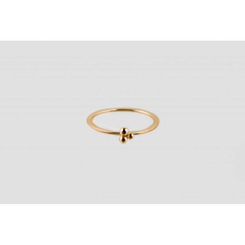 Lingonberry ring gold