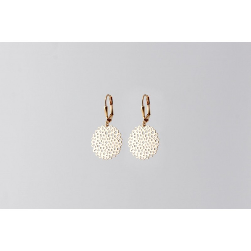 Floret earrings gold