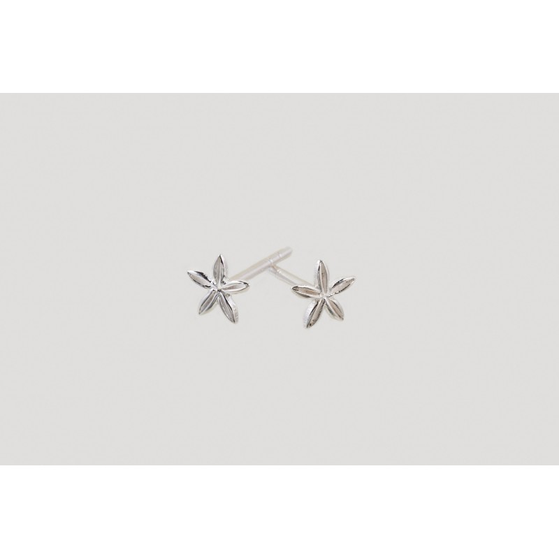 Star Blossom earrings silver