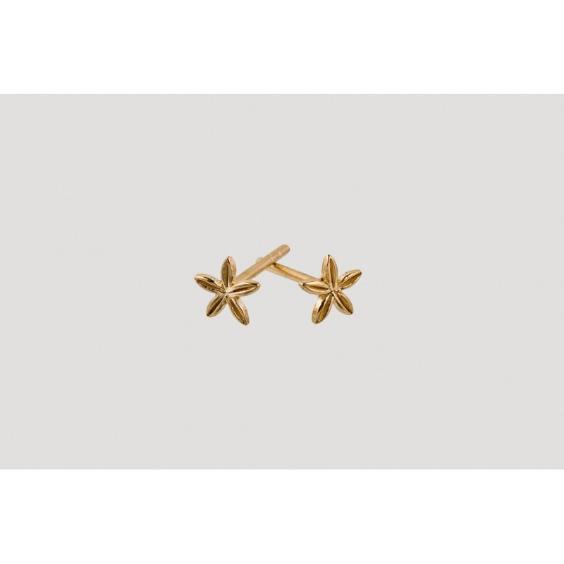 Star Blossom earrings gold