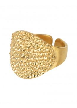 De punta con el dedo MEÑIQUE de Plata 925 anillo Chapado en Oro