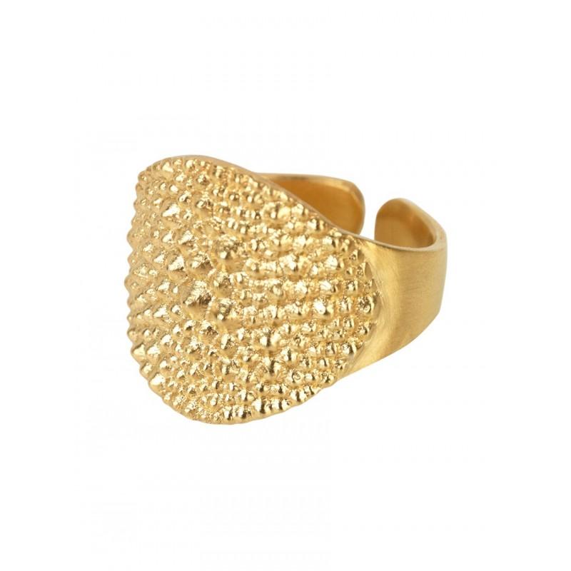 SPIKY MIGNOLO in Argento 925 anello, Oro Placcato