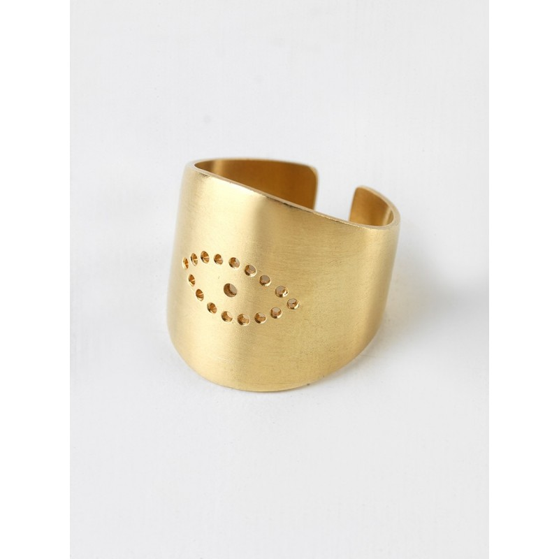 POLYPHEMUS Silver 925 Ring Gold Plated