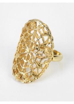 LIZ Plata 925 Doble Chapado en Oro Anillo de