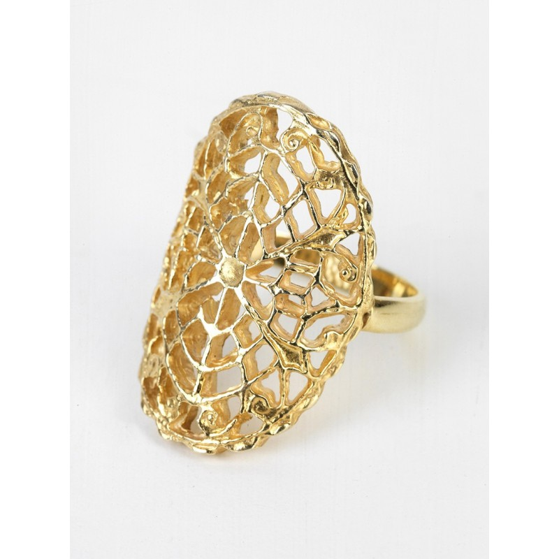 LIZ Silver 925 Double Gold Plated Ring