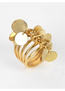 SOPHIA Silver Ring Double Gold Plated