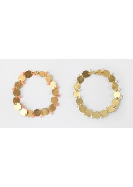 SOPHIA-Armband Silber Vergoldet mit Süßwasser-Perle