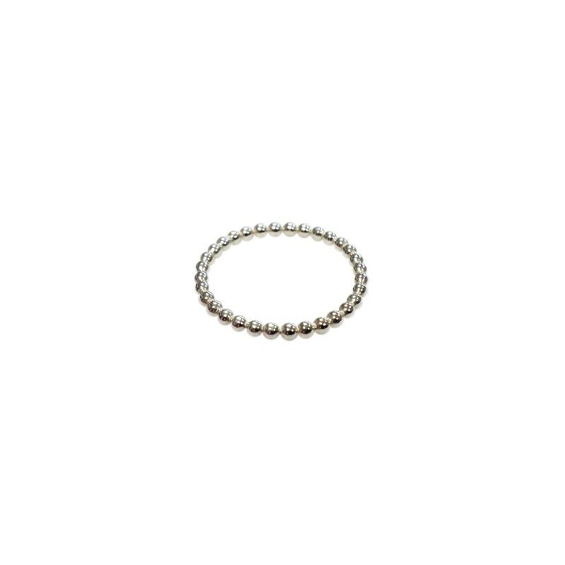 Plata anillo de bombillas