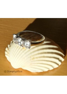 """Zircon Trio"" Ring"