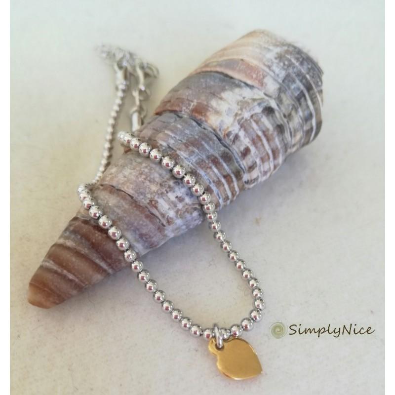 """Heart gold"" - Armband"