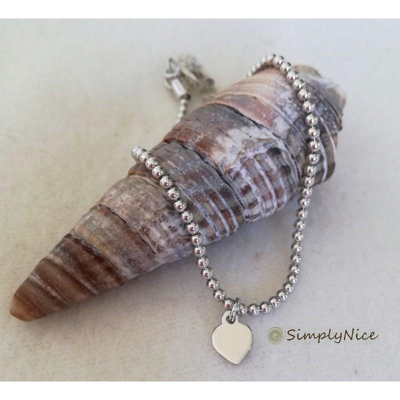 """""""Heart silver"""" bracelet"""