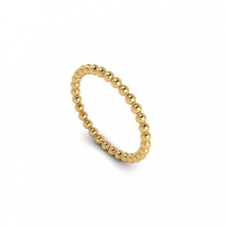 Gold plated balls ring