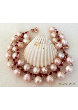 """Rose Flower Pearls"" Armband"