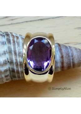 """Amethyst Facette"" Ring"