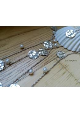 """Perle e Monete"" Collana"