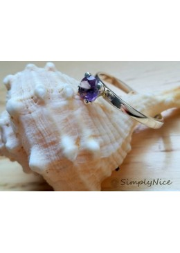 """Clear Amethyst"" Ring"