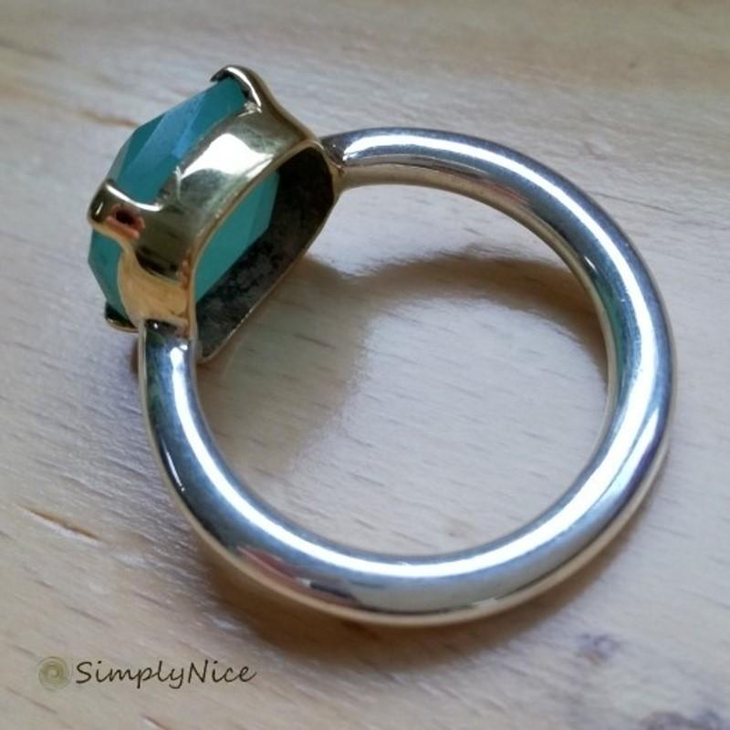 """""""Chalcedony Aqua"""" Ring"""