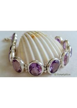 """""""Amethyst Clear"""" Bracelet"""
