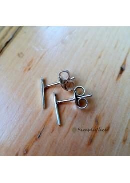 """""""Line Silver"""" Earrings"""
