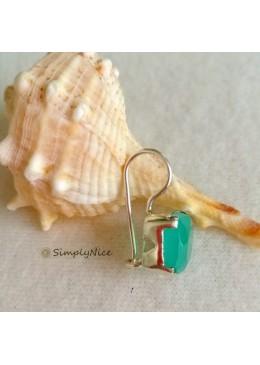 """""""Aqua Chalcedony"""" Earrings"""