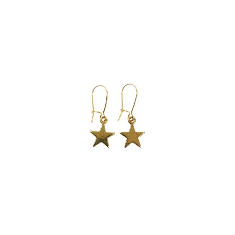 Ohrringe Stern-gold