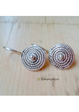 """""""Spiral Silver"""" Earrings"""