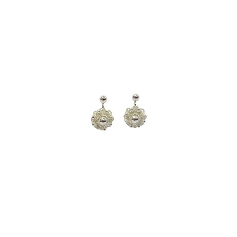 Earrings  Silver Zeeland button