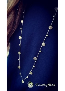 """Pearls and Coins"" Necklace"