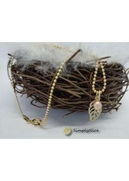 3-lane-geflochtenes Armband mit maple leaf und Perlen-Silber – Zimt
