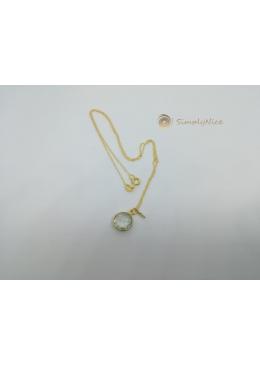 """Green Amethyst"" Halskette Gold"