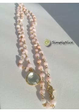 """Amethyst & Opal"" Halskette-Gold"