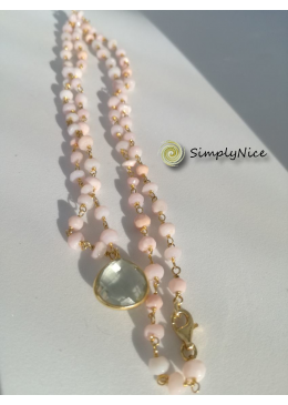 """Amethyst & Opal"" Necklace Gold"
