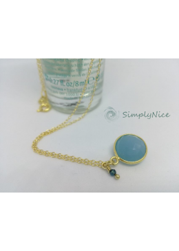 """""""Chalcedony"""" Necklace Gold"""