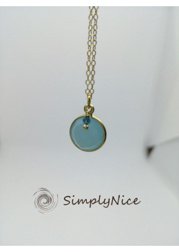 """Chalcedony"" Necklace Gold"