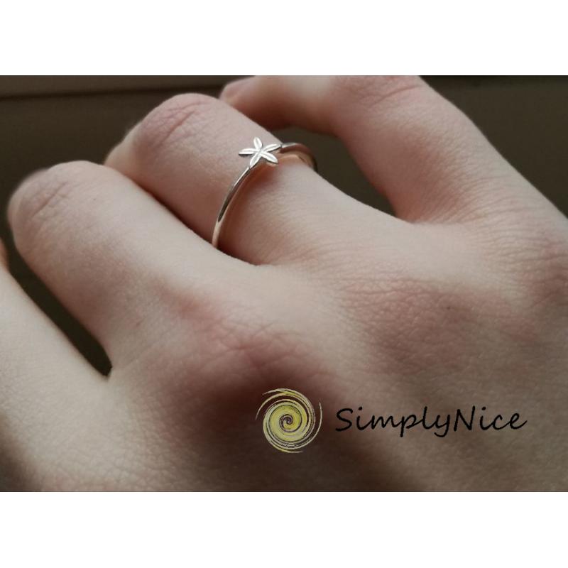 Stern Blüte-ring-Silber