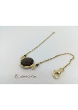 """""""Smoky Topaz"""" Bracelet Gold"""
