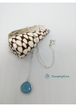 """Chalcedony"" Necklace Silver"