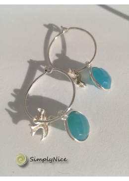 """Chalcedony"" Earrings Silver"