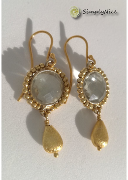 """Amethyst"" Earrings Gold"