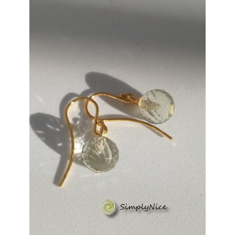 """""""Green Amethyst"""" Earrings Gold"""