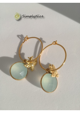 """""""Chalcedony"""" Earrings Gold"""