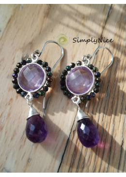 """Spinel Amethyst"" Earrings"