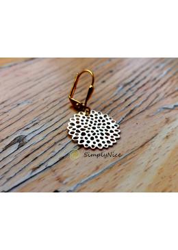 Floret earrings gold