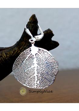 Linden leaf Ohrringe Silber