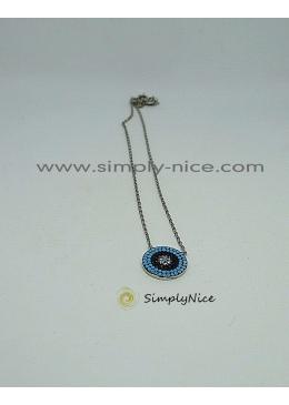 """Blue Circle"" - Halskette"