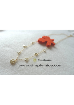 """Peace Gold"" Necklace"