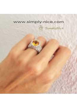 """Citrine Beauty"" Ring"