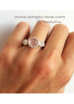 """Quartz & Moonstone"" Ring"