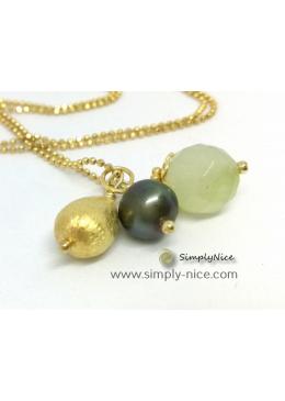 """""""Jade"""" Halskette-Gold"""