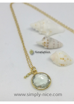 """""""Green Amethyst"""" Necklace Gold"""